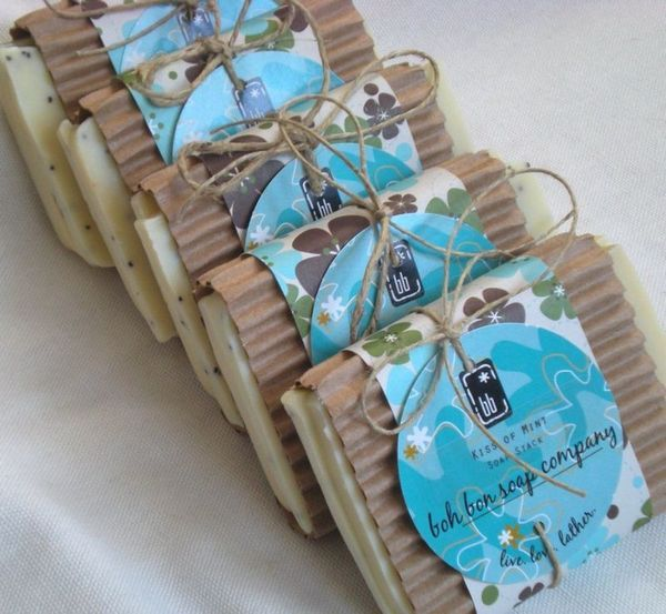 soap packaging with corrugated paper