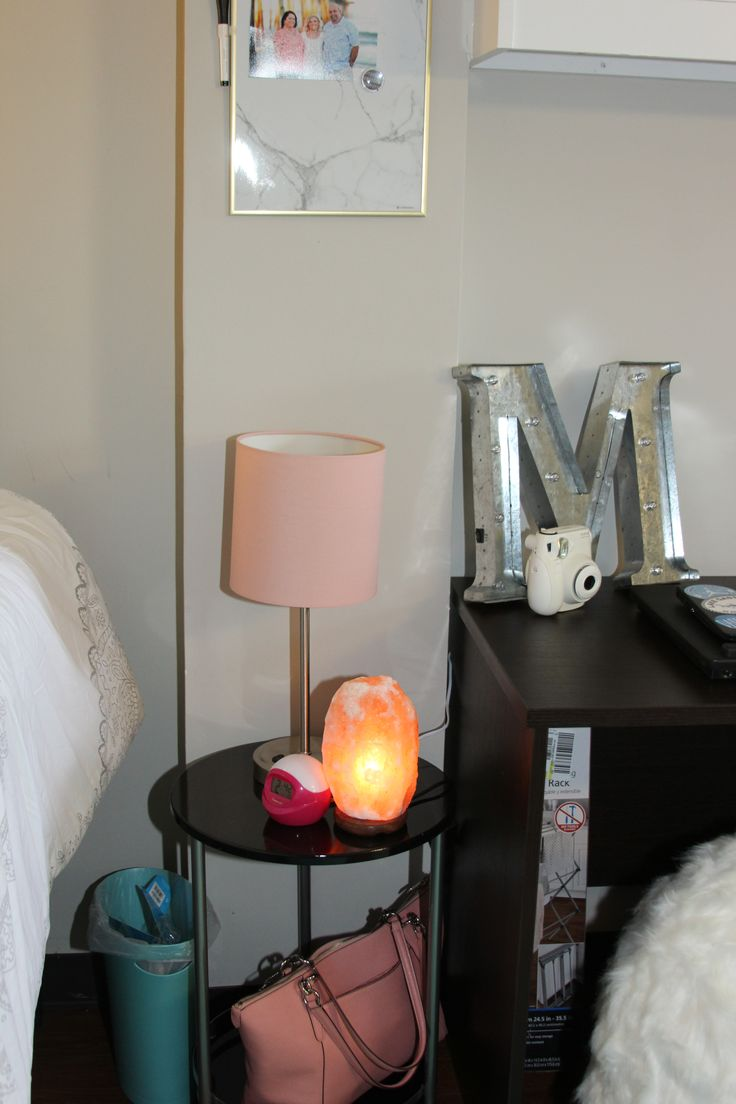 Night Stand With Lamp In A Traditional Double Room. There Is Room For That,