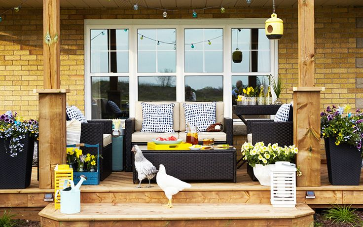 Country meets modern at Bethany's house! Patio makeover