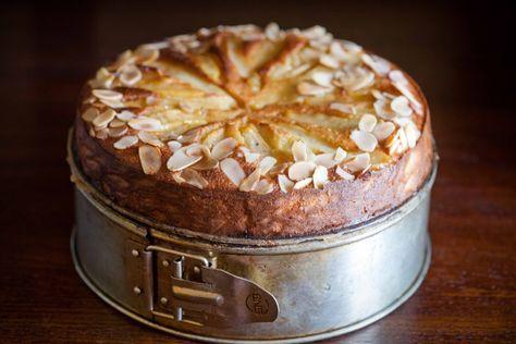 Ciasto migdałowe z gruszkami, bez mąki i tłuszczu