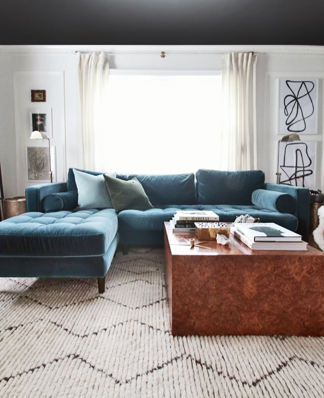 New Velvet Sectional New Living Room Look Hunted Interior Small Living Room Furniture Furniture Placement Living Room Furniture