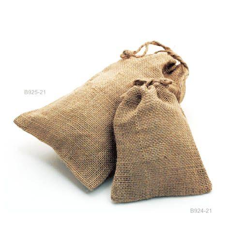 Hessian Bags/ Natural Burlap Bags / Hessian Drawstring Sack /