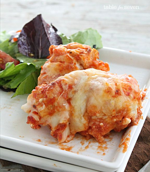 Skip the noodles!   Make this quick, delicious lasagna that is made with biscuits instead..