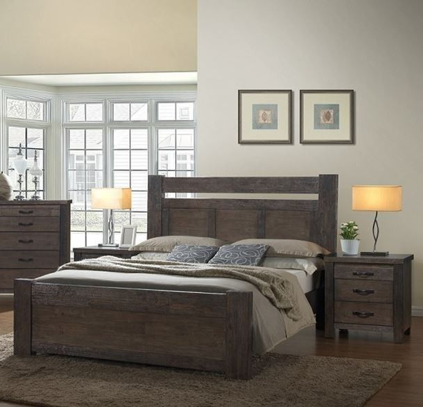 CASTRO 3 PIECE - HARDWOOD  KING SIZE BEDROOM SUITE - CHARCOAL  GREY  CASTRO QUEEN HARDWOOD BED FRAME - CHARCOAL GREY    Crafted from hardwood the Castro is made to last and with its beautiful charcoal grey finish you can pair this with any room decor.    FEATURES:    - Crafted from hardwood for strength and durability    - Alluring charcoal grey finish.
