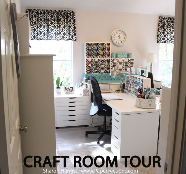 Craft Room for stamping, card making, Scrapbookking, papercrafting. Craft room organization.