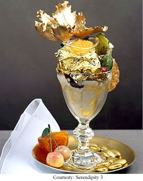$1000 golden-opulence-sundae.  you get to keep the crystal goblet if that makes it easier to spend that much ;)