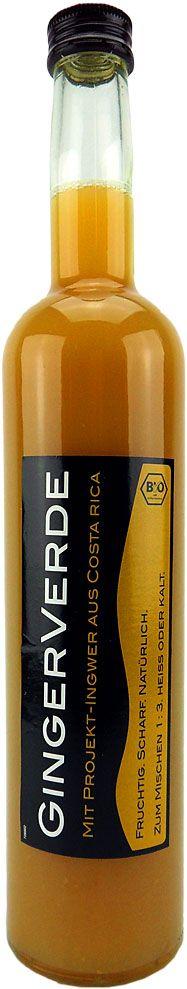 Last Chance: GingerVerde BioSaft fair und nachhaltig zum Aktionspreis (kurzes MHD)! Die 0,5l Flasche wird nicht mehr abgefüllt! Die letzten Ihrer Art bei uns!