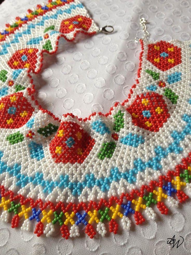 Ukrainian bead collar