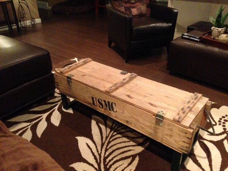 Military Crate Coffee Table Tables Pinterest