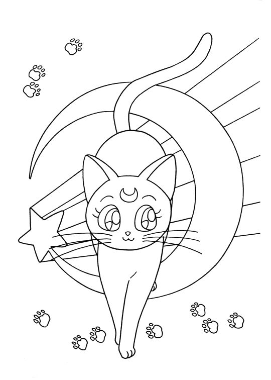 luna coloring page - Sailor Moon Coloring Pages