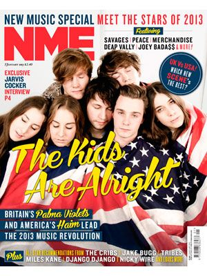 NME Magazine cover, Haim & Palma Violets, January 5th 2013