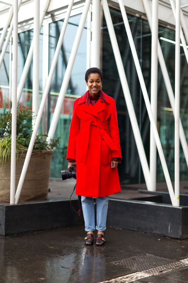 Mantù read coat on TAMU MCPHERSON_#StreetStyle #Italy #MFW #red #fw2016