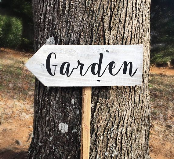 Superb Garden Sign, Garden Decor Directional Sign, Wooden Garden Sign, Custom Yard  Sign,