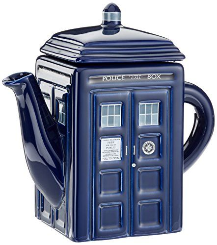 Doctor Who Tardis Teapot Underground Toys http://smile.amazon.com/dp/B0083AR8LI/ref=cm_sw_r_pi_dp_xeIxub1DJX00K