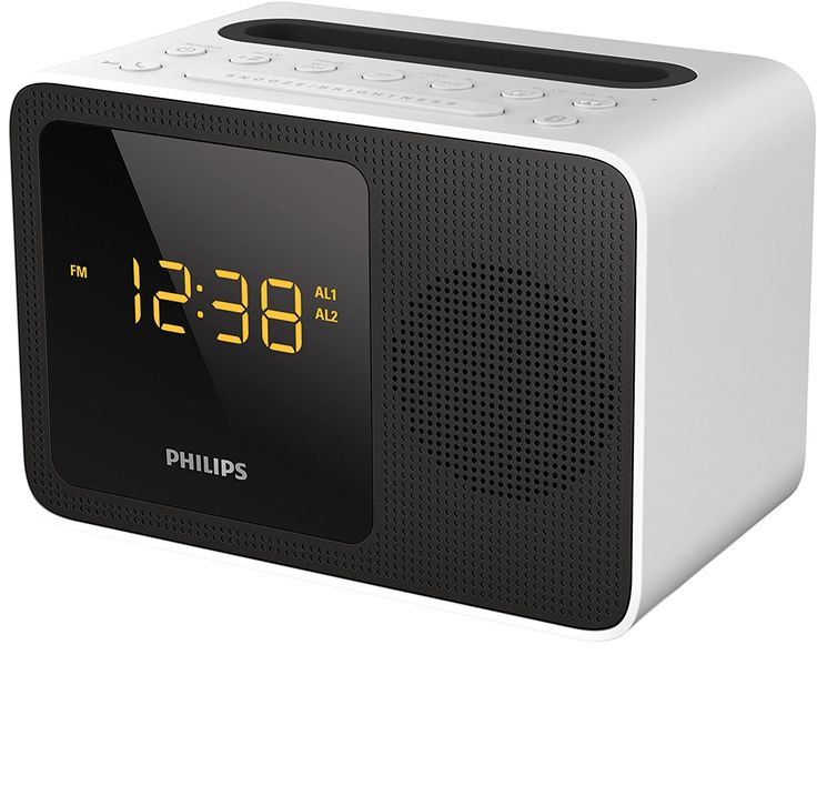 Philips AJT5300W Radio Réveil Bluetooth avec Tuner FM, Station d'Accueil et Rechargement iPhone ou Android, Blanc: Amazon.fr: High-tech