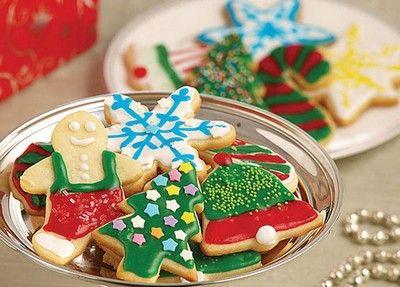 Karácsonyi fenyőfa sütemény