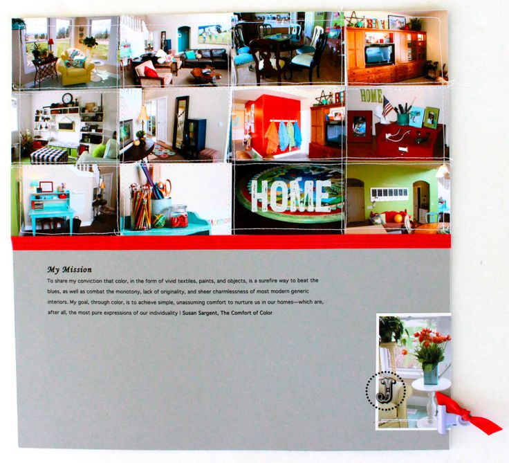 Got a bunch of horizontal images, maybe from a vacation or family reunion, etc.. print them wallet size and line them up side-by-side to cover the top half of a 12x12 page. Add some journaling and one additional accent photo or embellishment lower right. Page by Stacy Julian