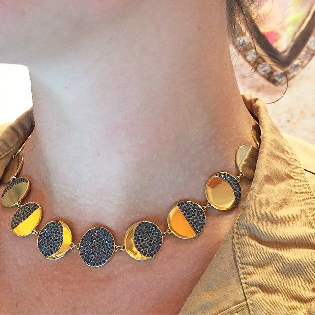 Moon phase necklace from @pamelalovenyc is perfect for some Midsummer Night's magic