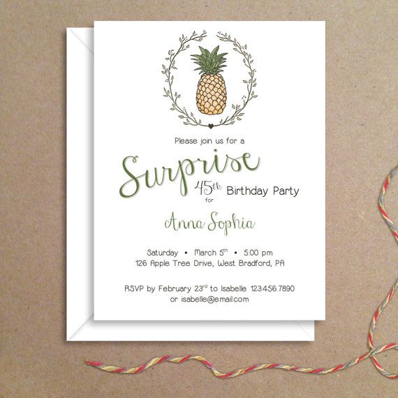 63 best Pineapple Invitations images on Pinterest Pine apple - fresh invitation for birthday party by email
