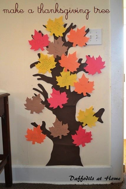 Thanksgiving tree for the whole dinner crowd!