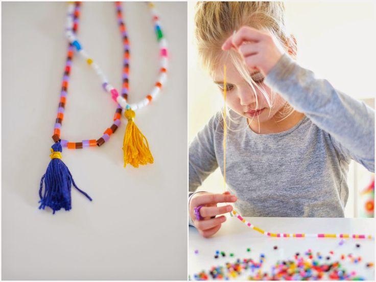 Ketting van strijkkralen | Wimke | DIY (do it yourself) | eenvoudige recepten | uittips