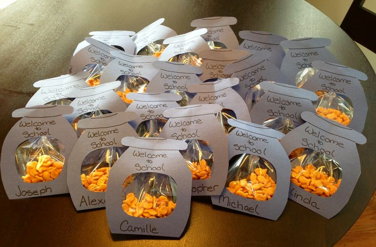 Classroom Snack Ideas : Class snack goldfish in bowls holidays special