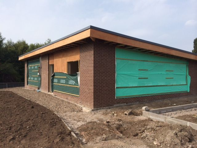 Here are the latest images from our project at the school in Birmingham, windows are ready to be installed #construction #extension #school #build