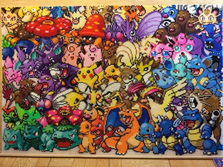 Pokemon 150 Perler Bead Mural  by Jet306                              …