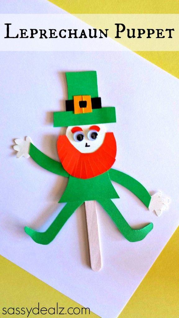 Popsicle stick leprechaun puppet craft for st patrick 39 s - Sassydeals com ...