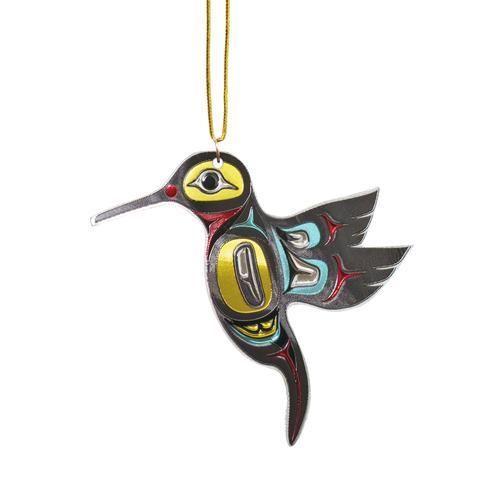 Hummingbird Metallic Ornament