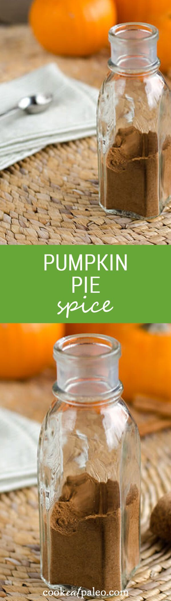This pumpkin pie spice recipe is so quick and easy. You probably have all of the ingredients for this homemade pumpkin pie spice in your cupboard. ~ http://cookeatpaleo.com