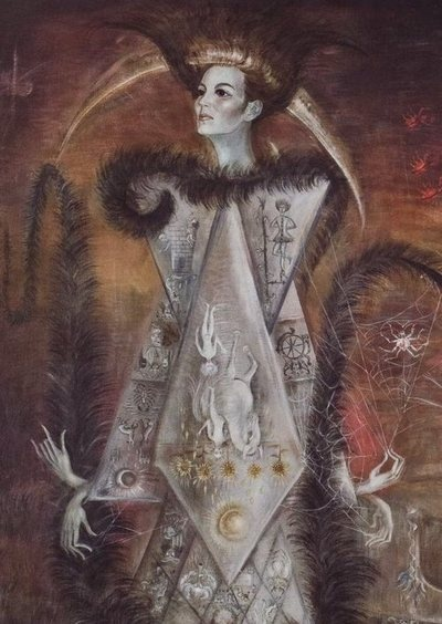 Leonora Carrington - La Maja del Tarot (detail)