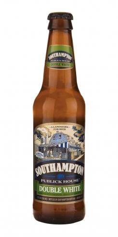 """The Southampton Double White is a """"double strength"""" or """"double gravity"""" version of a classic Belgian-style white ale. White Ales are unfiltered wheat-based brews with a unique citrus and spice character that comes from the use of orange peel and ground coriander seed in the brewing process. Southampton Double White honors the original Belgian style, but it has a little more of everything - more complex orange/citrusy fruitiness, a slightly fuller body, more alcohol an..."""
