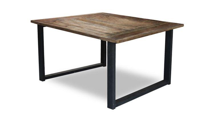 table indus plateau bois pied metal noldy carree mobiliermoss
