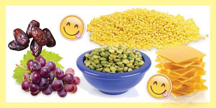 ЭНЕРГЕТИЧЕСКИЙ ЛАНЧ-БОКС  Тебе понадобится:  вареная зеленая чечевица и кускус. финики. миндаль. любимый сыр. виноград. Перемешай вареную чечевицу с кускусом, заправь оливковым маслом, соком лимона и специями по вкусу и выложи в ланч-бокс. Остальные отсеки заполни финиками, сыром, миндалем и виноградом. Такой бокс придаст тебе энергии до самого вечера.