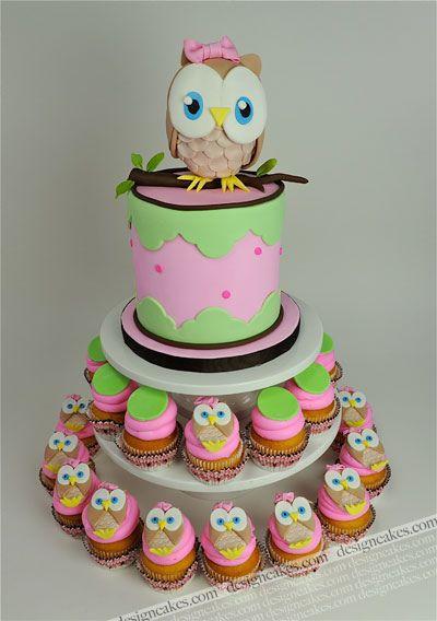 Owl first birthday cake by Design Cakes, via Flickr