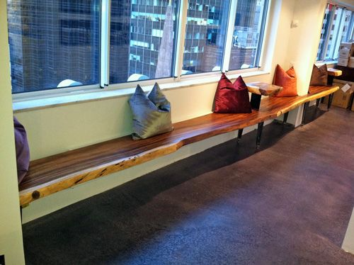 Custom 20' Long Natural Edge Bench provided by Impact ...