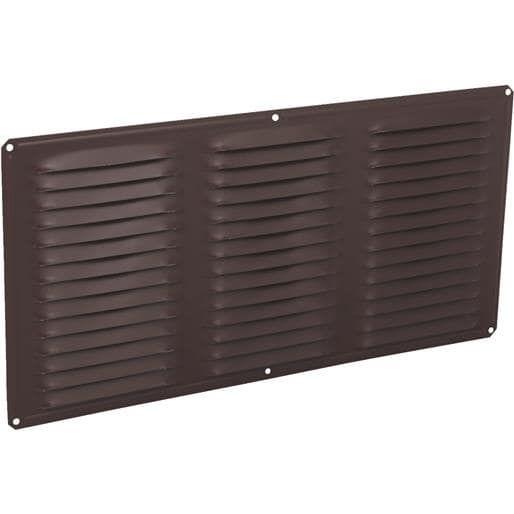 Air Vent Inc. 16X8 Brn Under Eave Vent 84212 Unit: Each Contains 24 per case, Silver aluminum