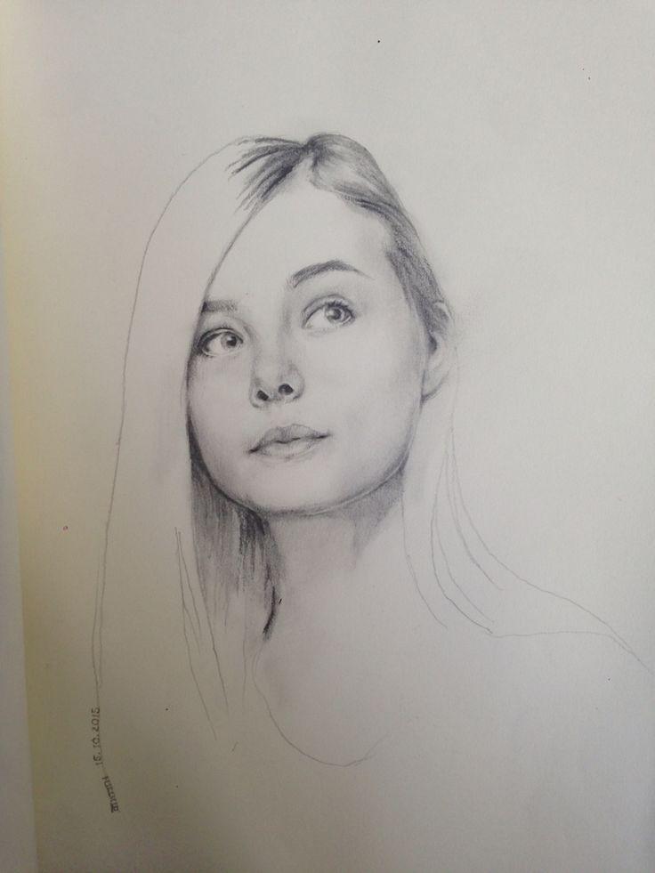 Pencil drawing 'Elle fanning'