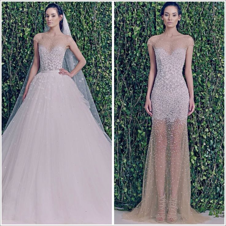 Zuhair murad wedding gown with removable tulle skirt so for Removable tulle skirt wedding dress