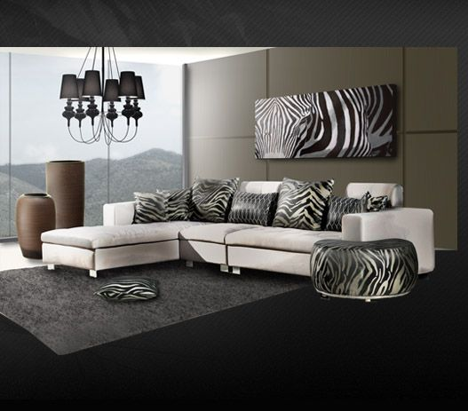 Living Room Zebra Print awesome zebra living room gallery - room design ideas