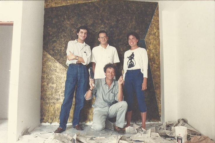 Gaetano Terranova, Angelo Barone, Jaqueline Aujandre, Guy Laverve - Modica - 1987.