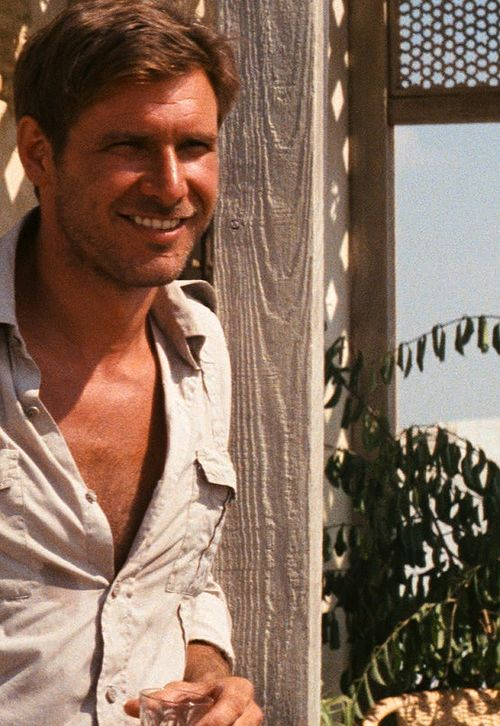 "Harrison Ford back when he first played Indiana Jones. So ""ruggedly"" handsome."