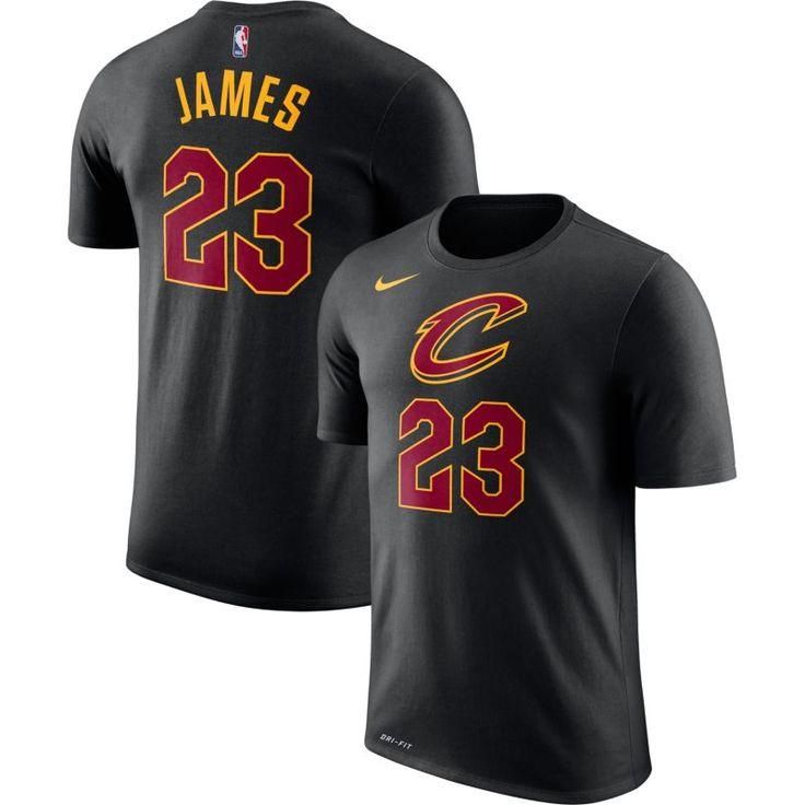 Nike Youth Cleveland Cavaliers LeBron James #23 Dri-FIT Black T-Shirt, Size: Medium, Team