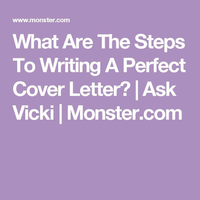 Best Perfect Cover Letter Ideas On Pinterest Perfect Cv - Monster cover letter