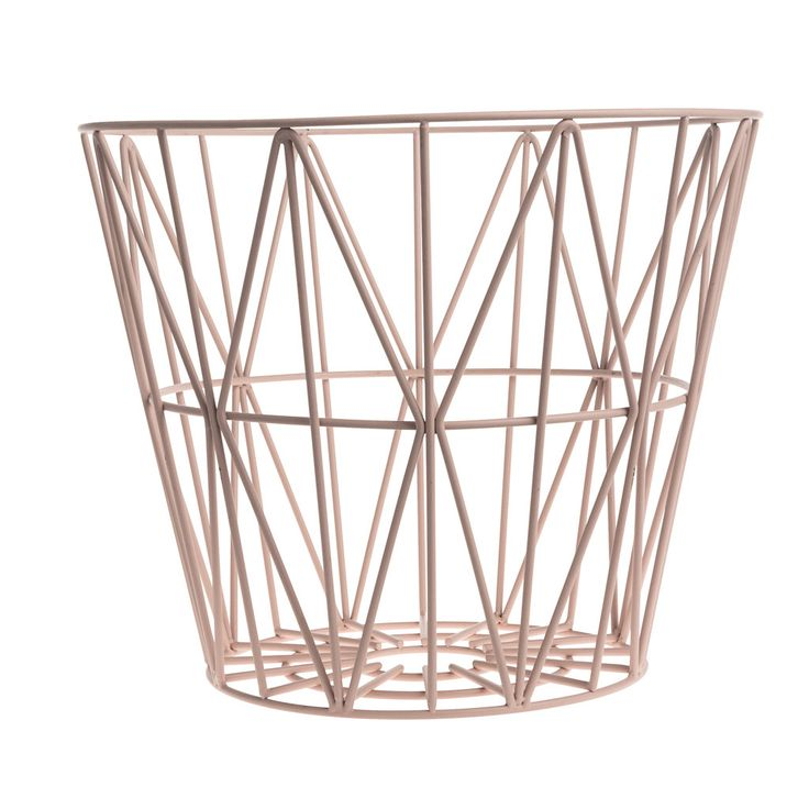 OPPBEVARINGSKURV - FERM LIVING WIRE BASKET S (ROSE)