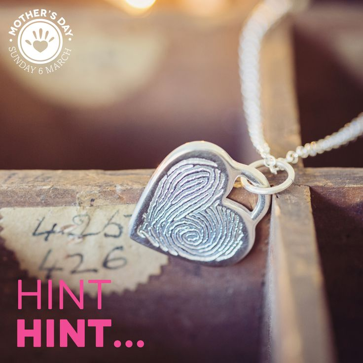 Need to drop a hint for some Fingerprint Jewellery this Mother's day?