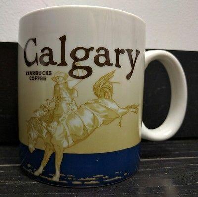 Starbucks Calgary Canada Global Icon Collector Series City Mug 2009 RARE