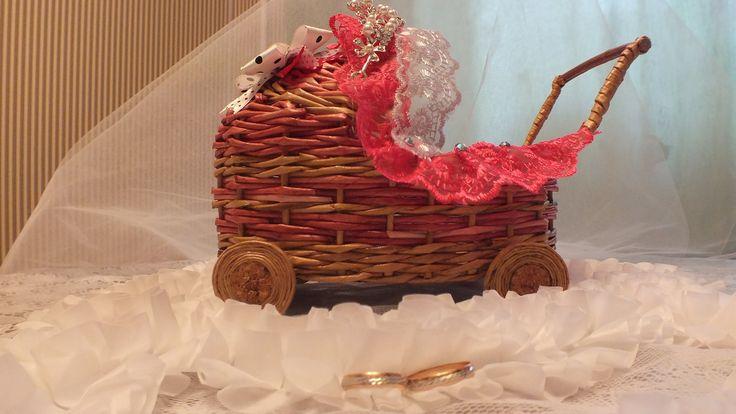 Плетение из газет коляска How to make Paper Basket weaving newspapers pe...