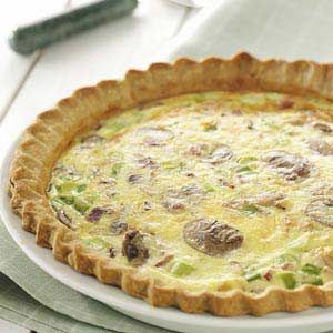 Mushroom Quiche Lorraine Recipe from Taste of Home -- shared by Michelle Fincher of Lyman, South Carolina